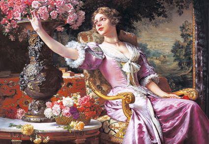 Женщина с цветами 300020М